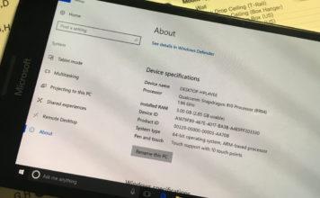 Windows 10 ARM on Microsoft Lumia 950 XL