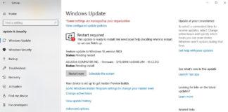 Windows Update in Settings