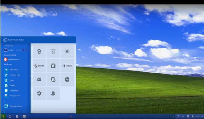 Windows XP concept