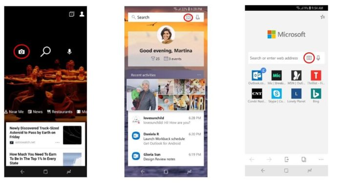 Bing in Microsoft Launcher for Android