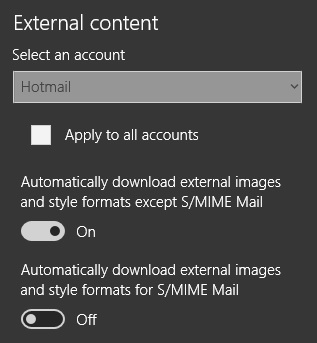 External Context in Mail app