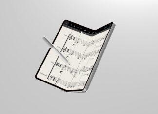 Microsoft Andromeda with stylus