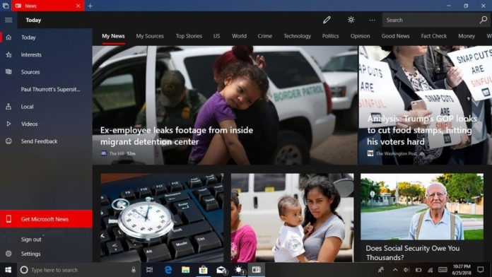 Microsoft News on Windows 10