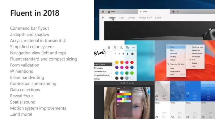 New Fluent Design roadmap