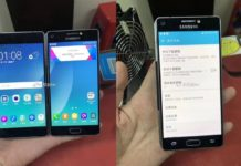Samsung phone with dual displays