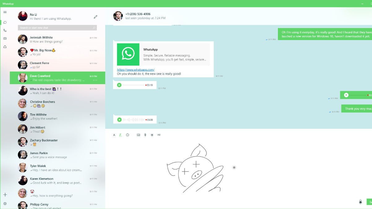 WhatsApp for Windows 10