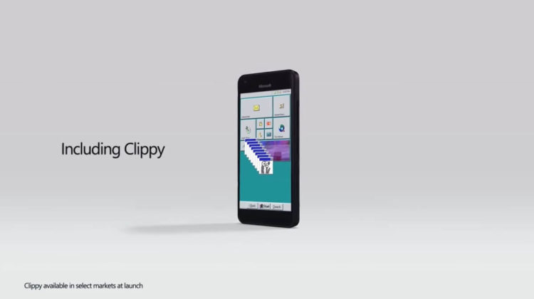 Windows 95 Mobile with clippy concept