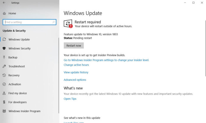 Windows Update on Windows 10