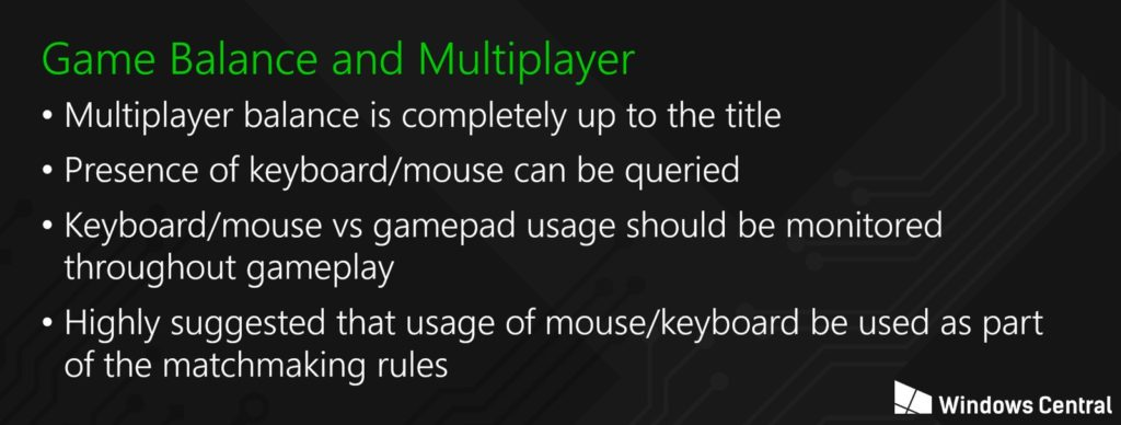 Xbox mouse and keyboard rules for developers