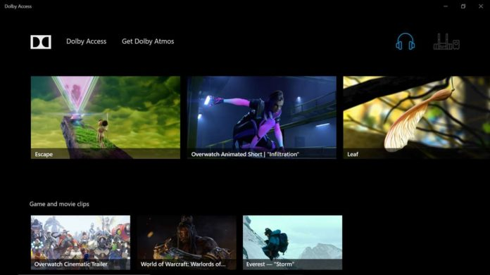 Dolby Access for Windows 10