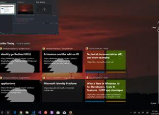 Firefox in Windows 10 Timeline