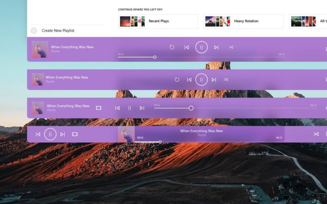 Groove Music controls