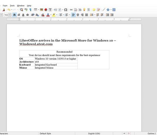 LibreOffice for Windows 10