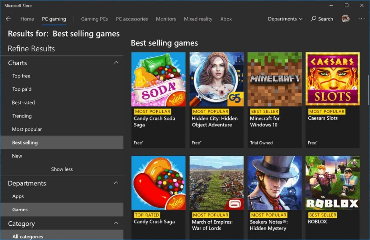 Roblox App On Windows Store Microsoft Is Testing New Filter Settings For Windows 10 App Store
