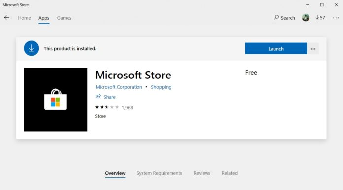 Microsoft Store on Windows 10