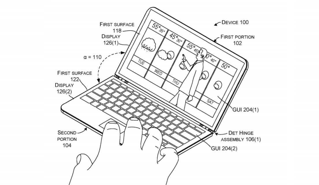 Microsoft foldable mobile device