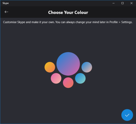 Skype color settings