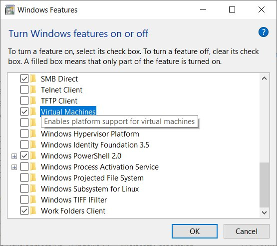 how to run a linux virtual machine on windows 10