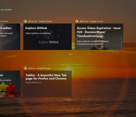Windows 10 Timeline and Chrome