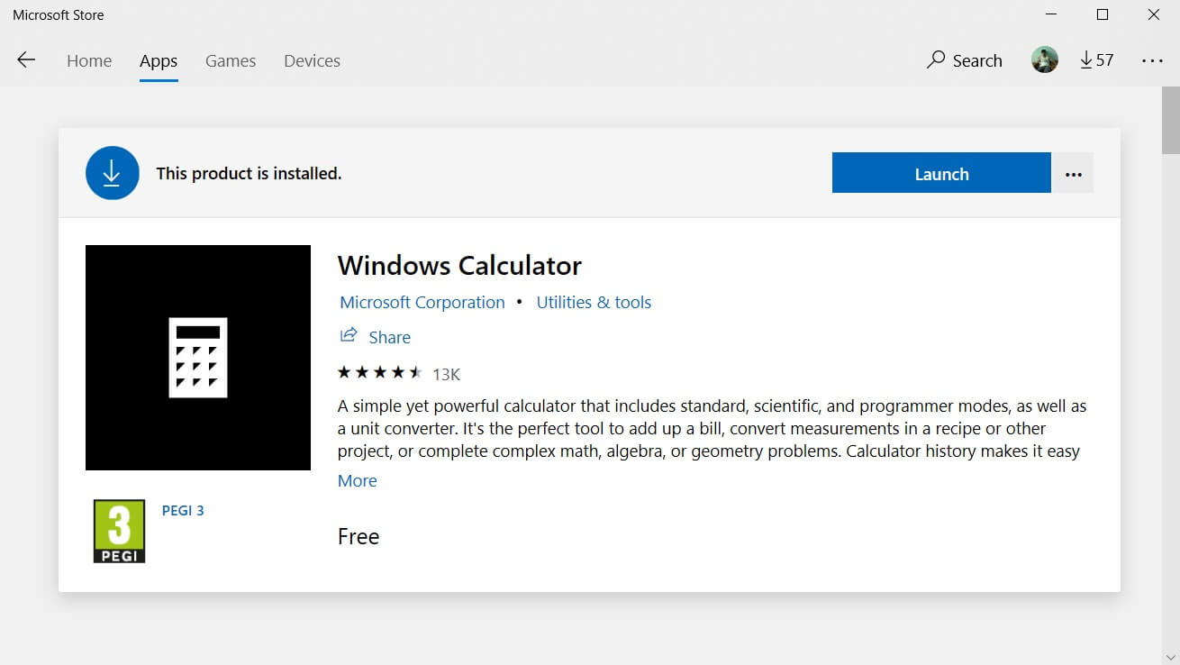 Windows 10 Calculator updated with UI changes for Insiders