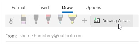 Drawing Canvas in Mail app