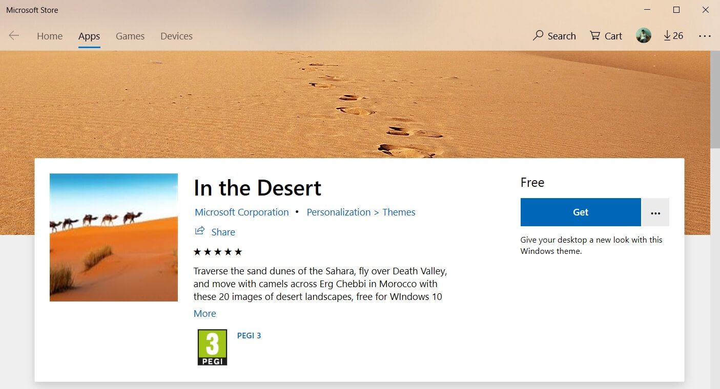 microsoft releases new in the desert wallpaper pack for windows 10