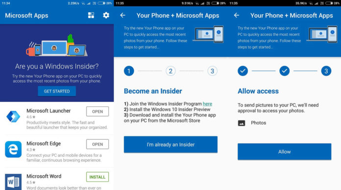 Microsoft Apps with Your Phone