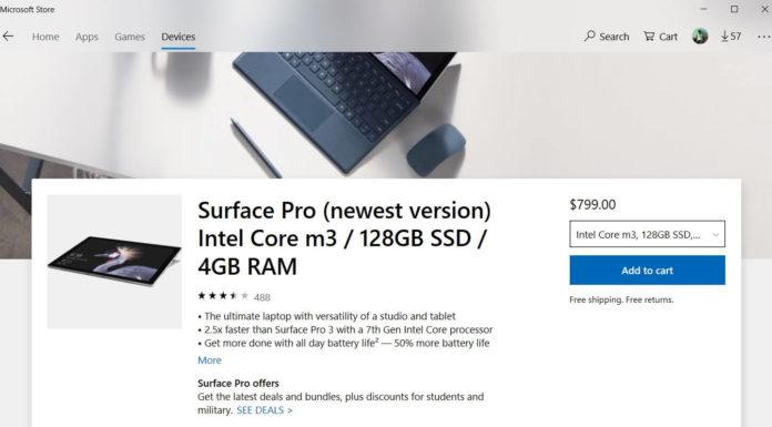 Microsoft Store hardware page
