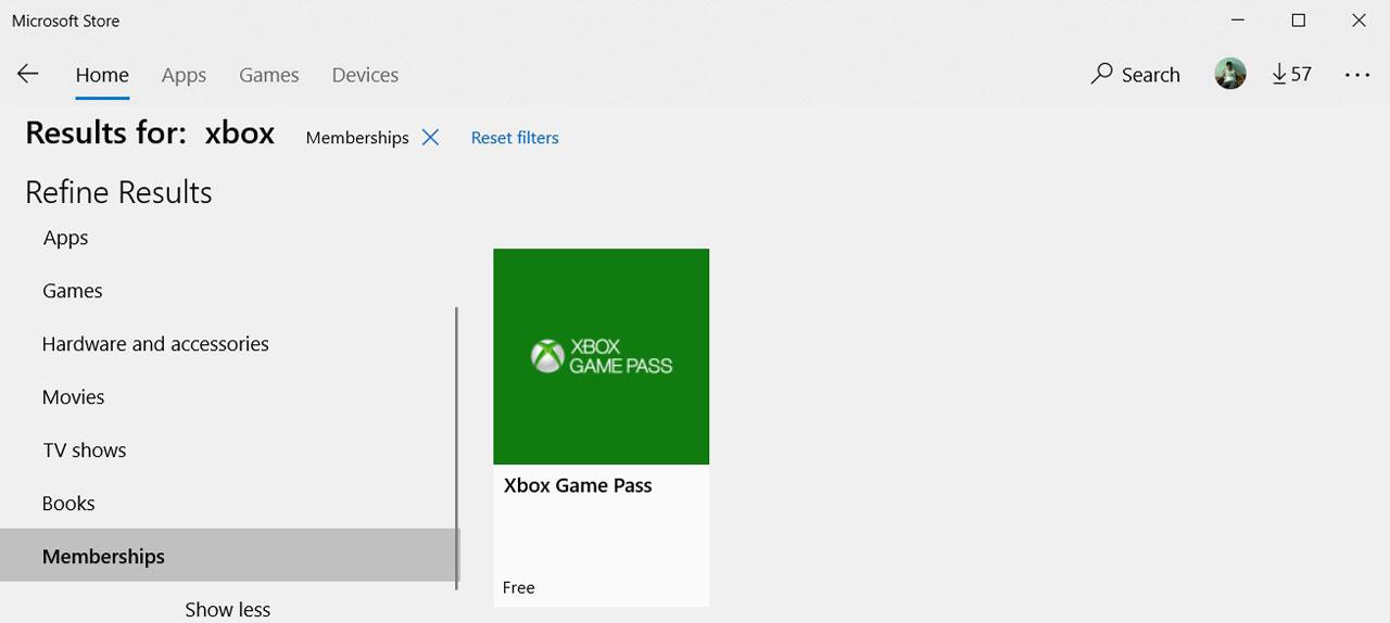 Microsoft Store memberships