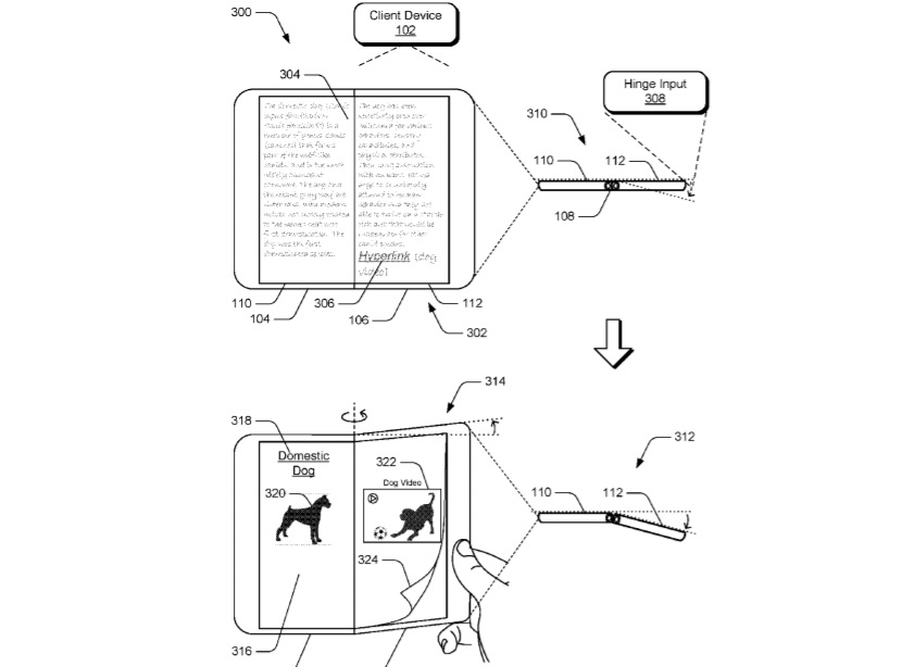 Microsoft patent for hinged device