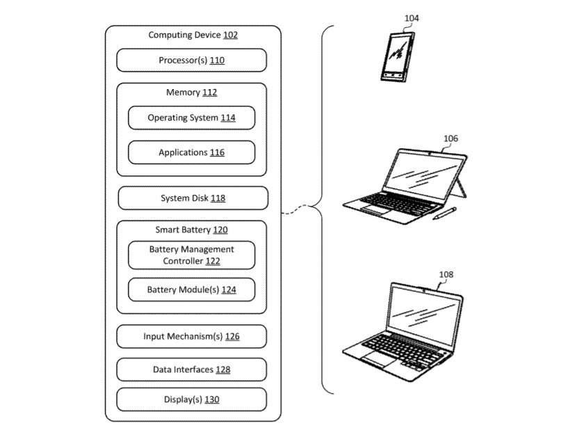 Microsoft smart battery patent