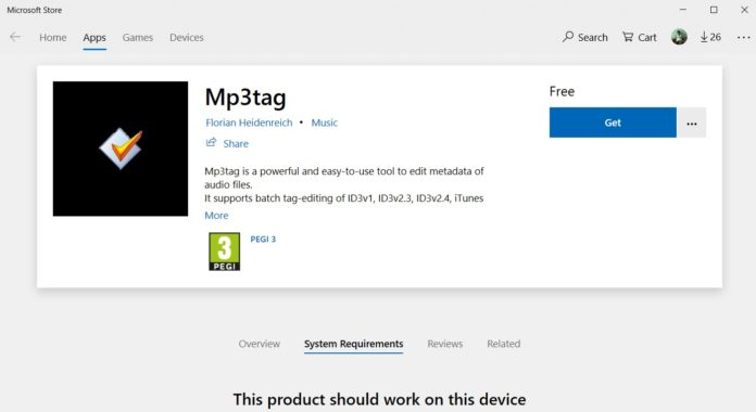 Mp3tag for Windows 10