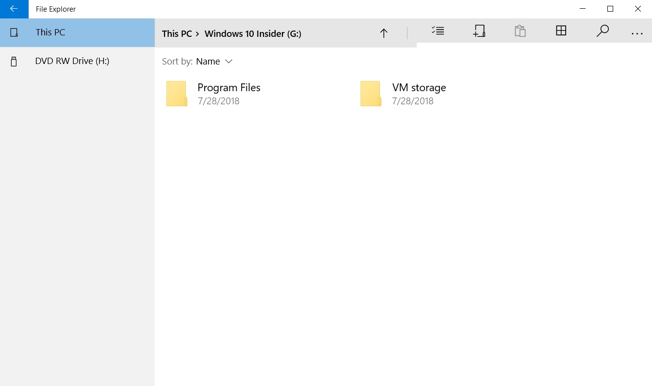 UWP File Explorer interface