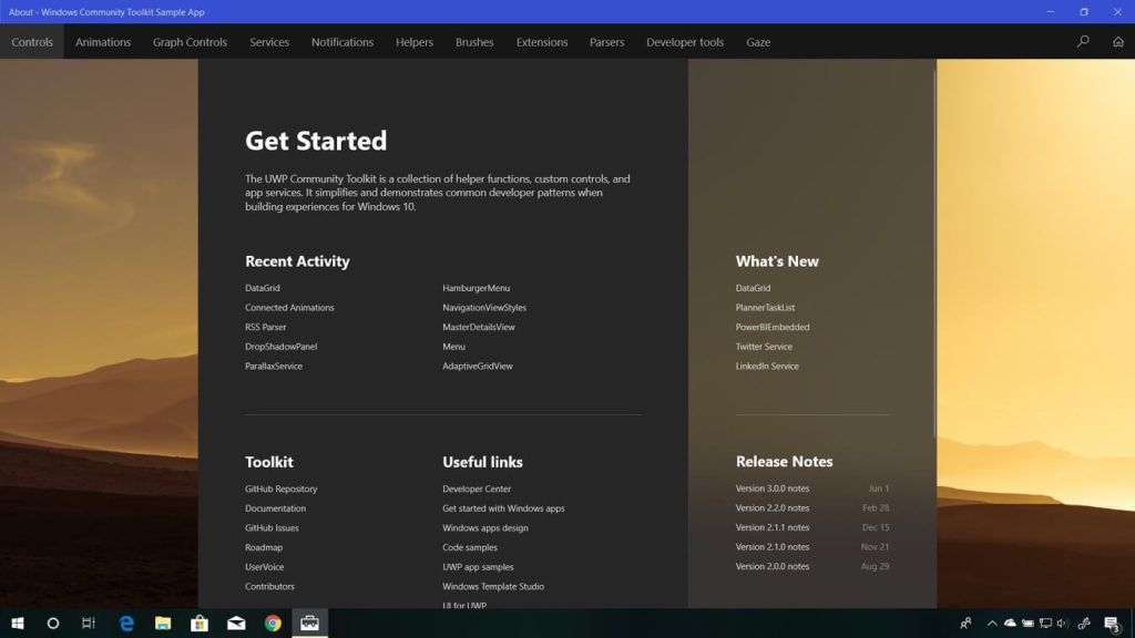 Dark Mode finally makes its way to Windows Community Toolkit Sample App