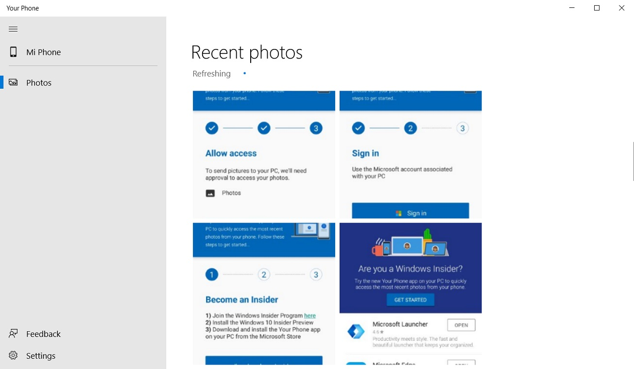 Microsoft will pin Your Phone app to Windows 10 desktop for