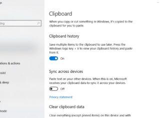 Clipboard in Windows 10