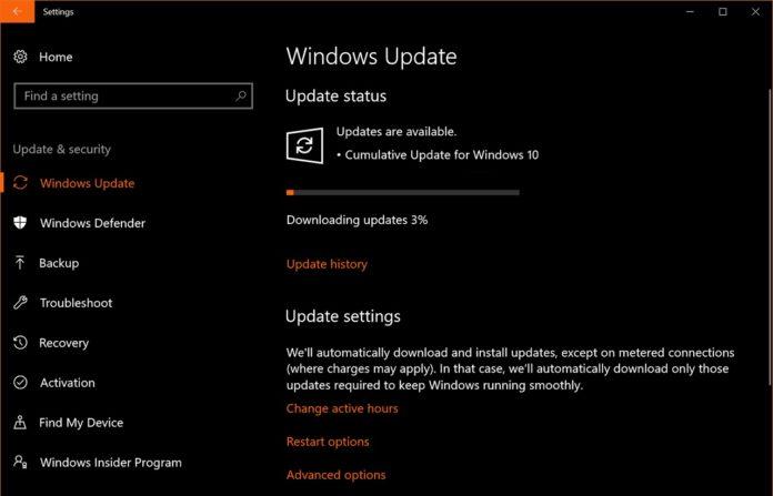 Cumulative update for Windows 10