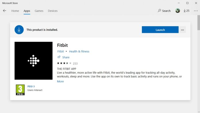 Fitbit for Windows 10 Mobile