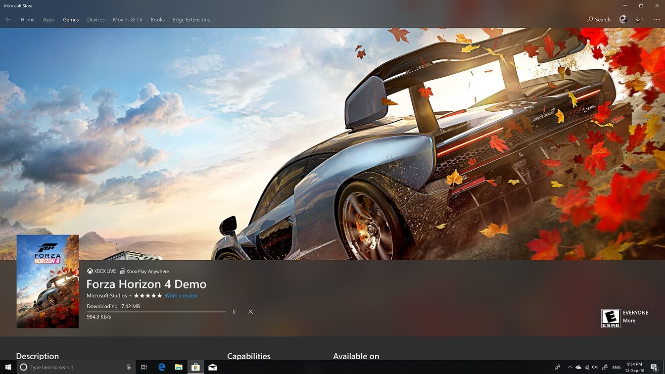 forza horizon 4 demo is now available for free on windows 10. Black Bedroom Furniture Sets. Home Design Ideas