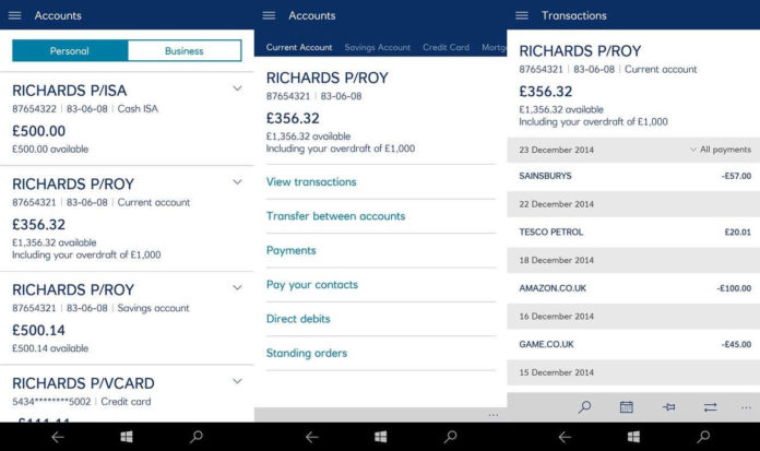 RBS Windows Phone app
