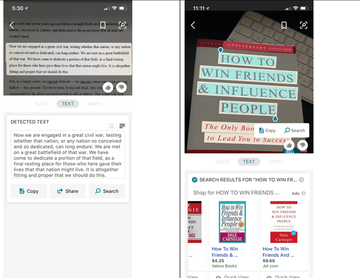 Text-Transcription in Bing