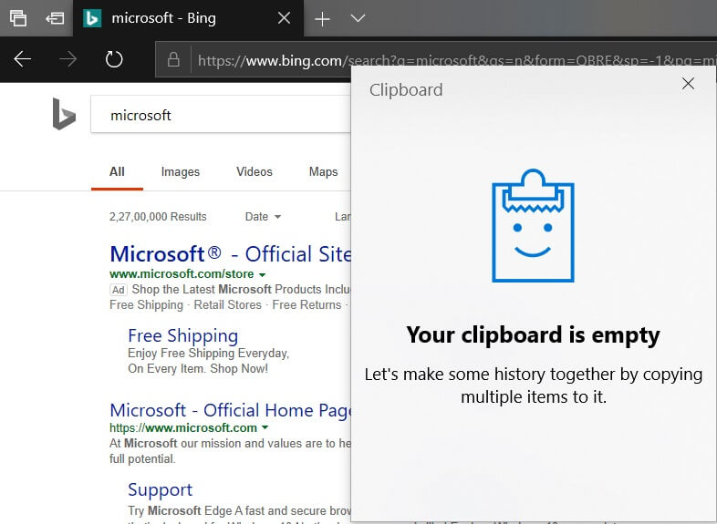 Windows 10 Clipboard hands on