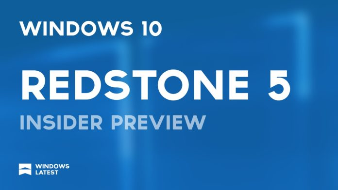 Windows 10 Redstone 5 builds