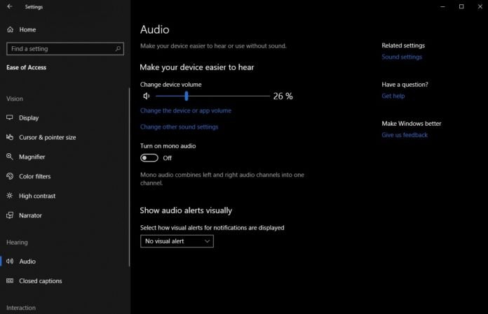 Audio in Windows 10