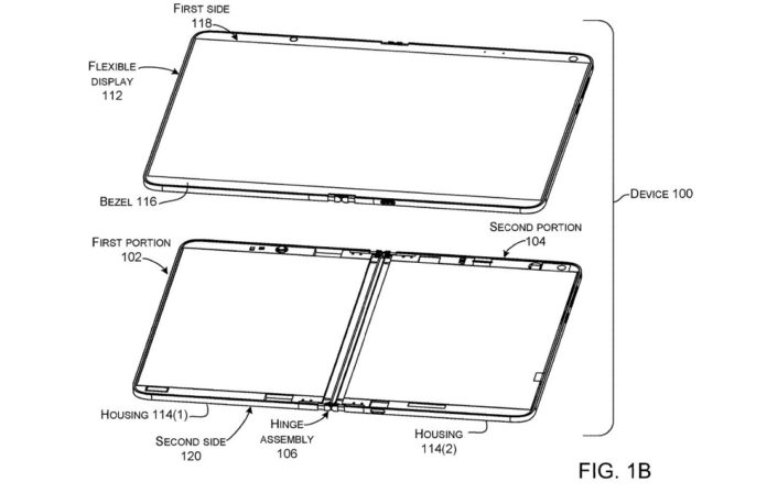 Microsoft patent for flexible device