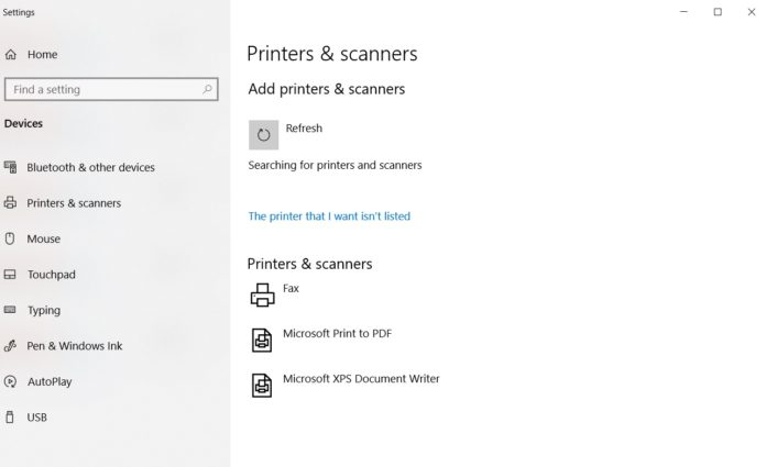 Printer drivers Windows 10