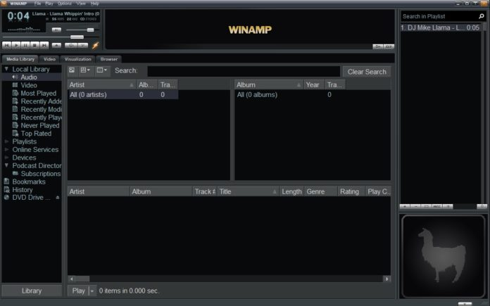 Winamp on Windows 10