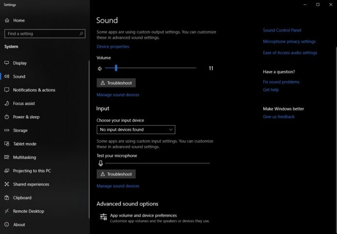 Windows 10 Audio System
