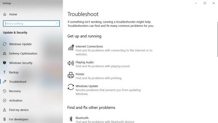 Windows 10 Troubleshooter