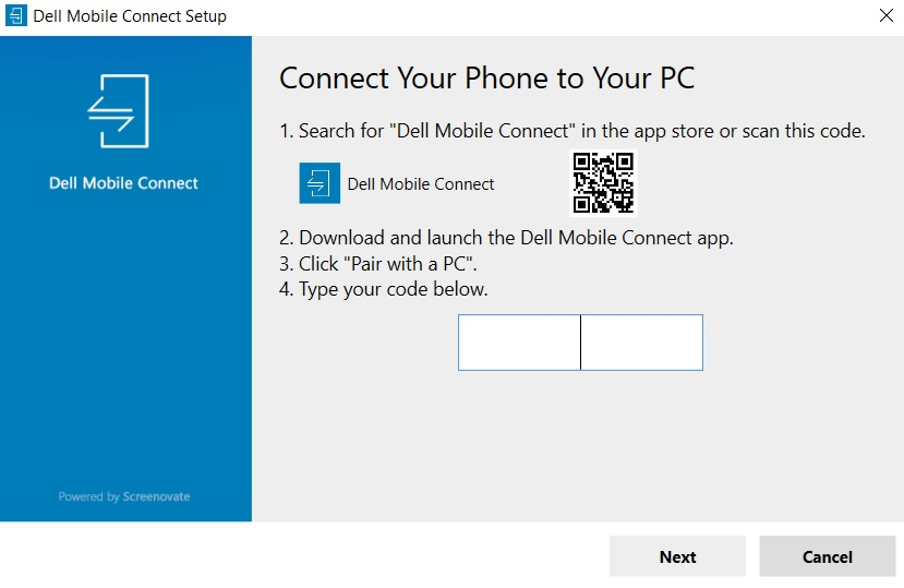 Dell Mobile Connect scan